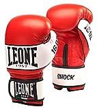 Leone 1947 Shock Guantes de Boxeo, Unisex Adulto, Shock, Rojo