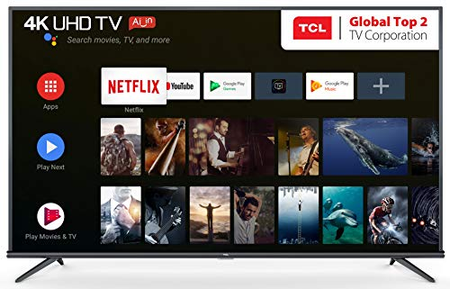 TCL 138.78 cm (55 inches) AI 4K UHD Certified Android Smart LED TV 55P8E Elite (Black) | Farfield Voice Search