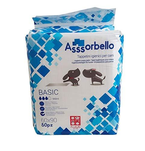 Ferribiella IGN020 Tappetini Igienici Asssorbello Basic, L, Bianco