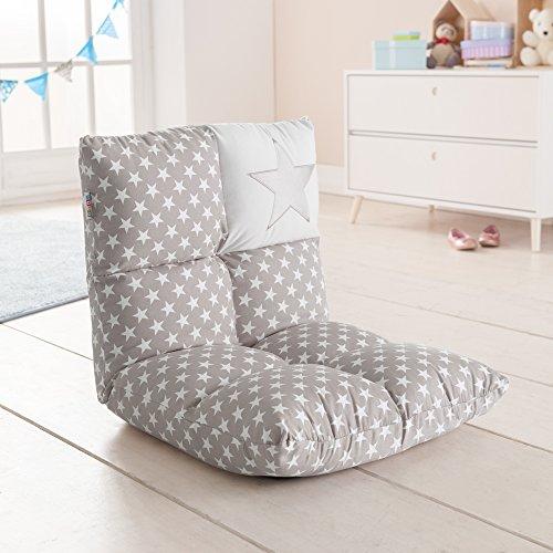 howa 2 in 1 poltrona + divano per bambini - schienale regolabile in 6 posizioni - grigio 8602