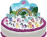 Toppershack Scène pour gâteau Mon Petit Poney comestible PRÉ-DÉCOUPÉE - 27 décorations