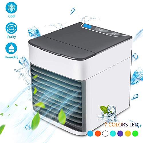 Condizionatore Portatile, Raffreddatore Ventilatore d'Aria,3-in-1 Mini Evaporativo Umidificatore...