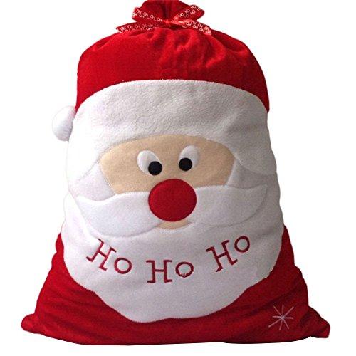 Demarkt Weihnachtsmannsack Weihnachten Geschenksack Beutel Tasche Weihnachtsmannform 47cm*67cm