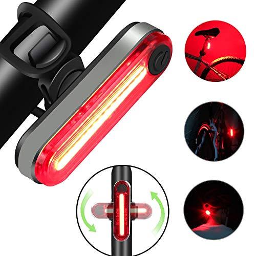 Luce Posteriore per Bicicletta, Ricaricabile USB per Bicicletta a LED, Potente Faro a LED Luce...