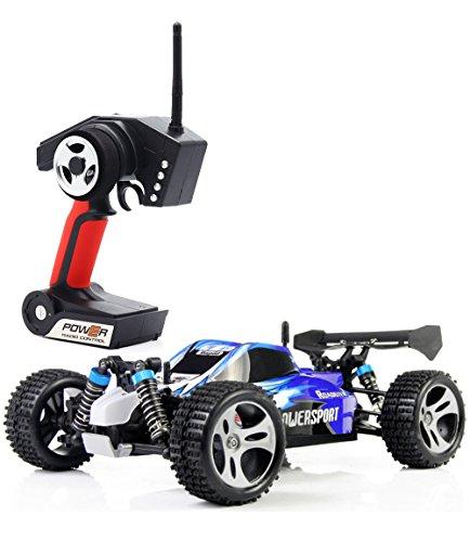 TOZO C1025 RC Coche Radio Control 4WD de Alta Velocidad Escala 1:18 Mando a Distancia de 2,4Ghz Coche de Carreras Eléctric Vehículo con Batería Recargable 32mph (52 Km/h) Color Azul