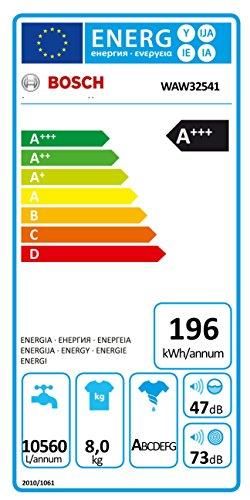 Bosch WAW32541 Serie 8 Waschmaschine FL / A+++ / 196 kWh/Jahr / 1551 UpM / 8 kg / Weiß /ActiveWater Plus / EcoSilence Drive - 2