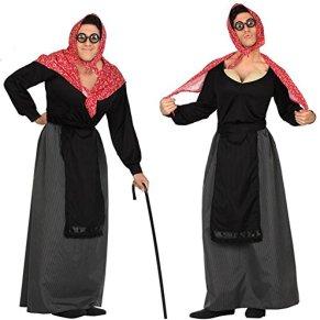 Atosa 26904 - Anciana hombres traje, tamaño 50/52, negro/rojo