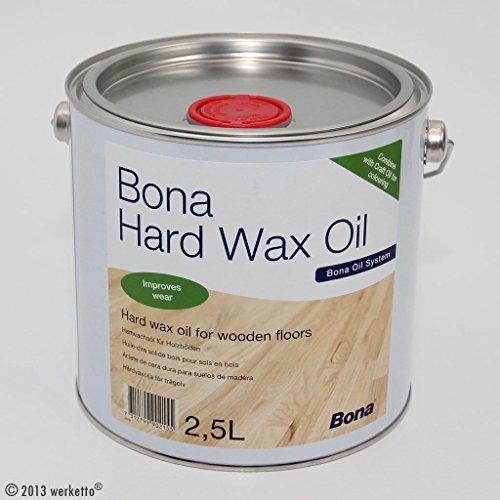 Bona Hard Wax Oil 2.5L semilucida e opaca finitura ad olio per la protezione di parquet mobili ecc...