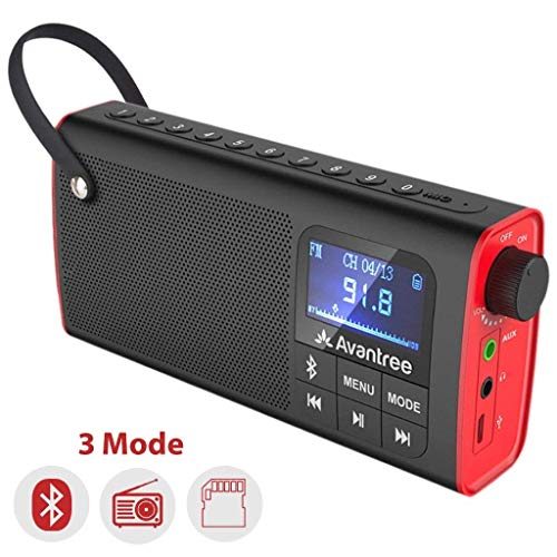 Penibel Avantree 3-in-1 Portable Bluetooth Speaker with FM, SD Card Support,Folder View, Auto Scan & Save, LED Display, Rechargeable Battery - SP850
