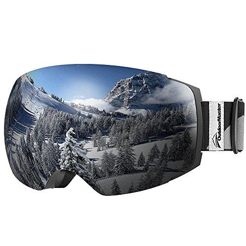OutdoorMaster Occhiali da Sci PRO da Donna&Uomo, Occhiali da Snowboard con Sistema di scambio...
