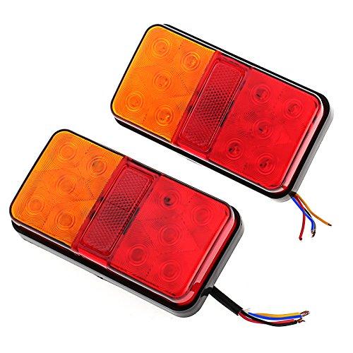 Justech 2 x Fanali Posteriori Luci Posizione LED Lampadine Indicatori di Parcheggio 2x10 LED 12V...