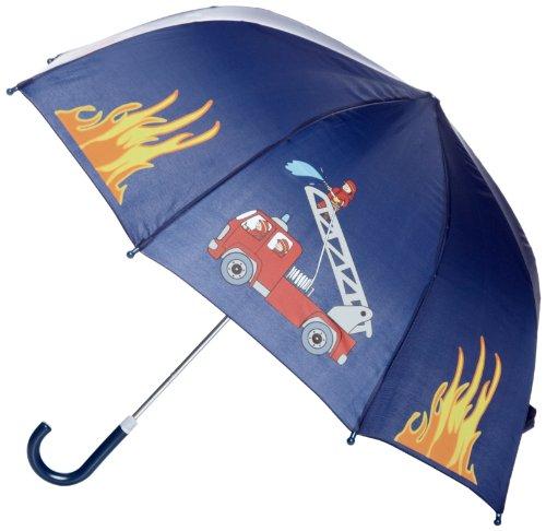 Playshoes Jungen Regenschirm Feuerwehr Regenmantel, Blau (Original), (Herstellergröße: One Size)