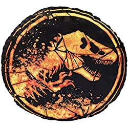 Jurassic World 75445Iconic Cojín Redondo de Peluche–Ambos Lados–Diámetro: 32cm