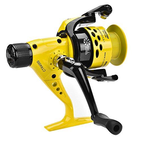 Ruota da Pesca con Mulinello Anticorrosione in Metallo Heavy Duty Leggera da Pesca con Mulinello da Spinning per Acqua Salata/Dolce(4000)