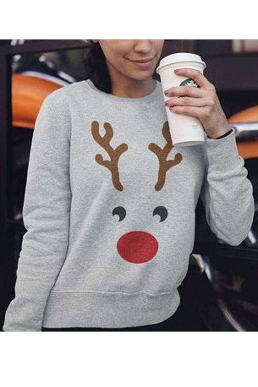 d968610527de6d Vemubapis Women s Ugly Christmas Sweatshirt Long Sleeve Crew Neck T ...