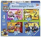 Ravensburger 7033 Paw Patrol - Paquete de 4 puzzles en la caja, con Paw Patrol