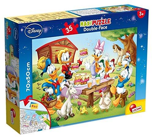 Lisciani Giochi 48199 - Mickey Puzzle Doppia Faccia Supermaxi, 35 Pezzi