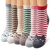 Ambielly calcetines de algodón calcetines térmicos Adulto Unisex Calcetines (6 raya Gatos)