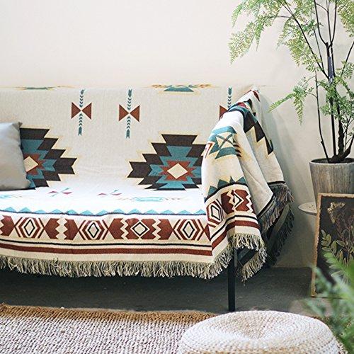 WSFJ Vintage Couch Cover,Copertura Completa Stile Etnico Geometria Asciugamano Divano,Nordico...