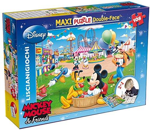 Lisciani Giochi 37247 - Puzzle Df Supermaxi Mickey Fun Fair, 108 Pezzi, 70 x 50 cm, Multicolore