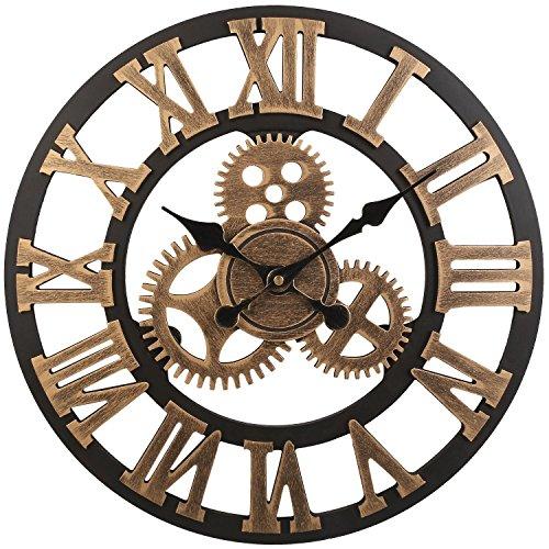 Soledì Orologio da Parete 3D Ingranaggio Fatto a Mano Vintage Stile Europeo Retro Decorazione per...