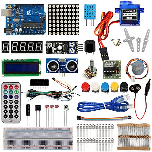 6111xhT1ZqL - Kit de aprendizaje para programar KOOKYE para Arduino, Raspberry Pi none UNO R3 Starter kit for Arduino