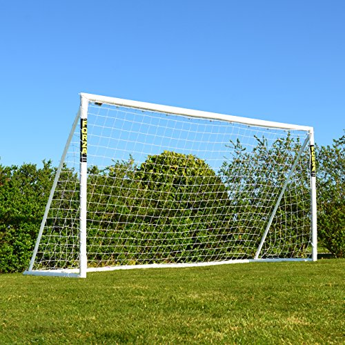 The size is the one recommended for mini-soccer games by the FA, goal frame is made from weather-resistant and impact resistant uPVC, and essential locking system provides super quick assembly; this is the real deal. Couple the goal with a ball, carry bag, and target sheet and your rising star is set to recreate World Cup goals in the back garden.