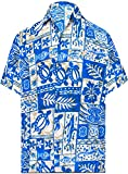 LA LEELA | Funky Chemise Hawaïenne | Hommes | XS - 7XL | Manche-Courte | Poche-Avant | Hawaiian-Imprimer | Été Plage Palmiers | Couleurs variées