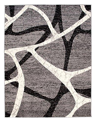 Carpeto Rugs Tappeto 130 x 190 cm Grigio Moderno Geometrico Monaco Collezione