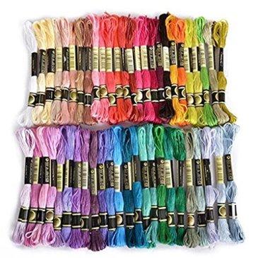 50 échevettes de Fil pour broderie point de croix tricotage crochet multicolores