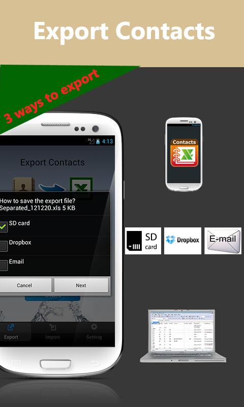 ExcelKontakte Screenshot