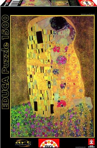 Educa 13794 - Puzzle 'Il bacio, Gustav Klimt', 1500 pezzi