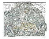 HISTORISCHE KARTE: Großherzogtum SIEBENBÜRGEN, 1853 (Plano) [mit Hermannstadt, Broos, Mühlbach, Reussmarkt, Mediasch, Schässburg, Reps, GrossSchenk, Leschkirch, Kronstadt, Bistritz]