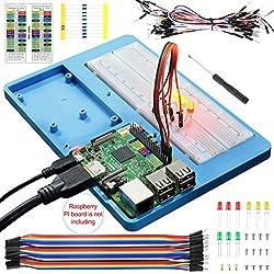 14 en 1 Protoboard con Soporte RAB para Arduino UNO R3, Mega 2560 y Raspberry Pi 3 2 1 Model B+ RPI Zero W y Zero (UA032)