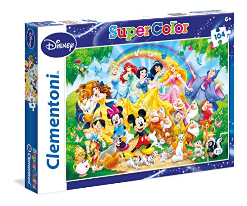 Clementoni - 27955 - Supercolor Puzzle - Disney Classic - 104 Pezzi - Disney