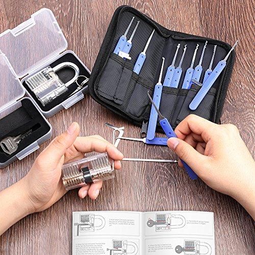 kit de crochetage serrure 17 pi ces 2 serrures eventronic outils d entra nement transparents. Black Bedroom Furniture Sets. Home Design Ideas