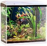 Sweetypet Aquarien Komplettsets: Nano-Aquarium-Komplett-Set mit LED-Beleuchtung, Pumpe & Filter, 40 l (Aquarium-Becken)