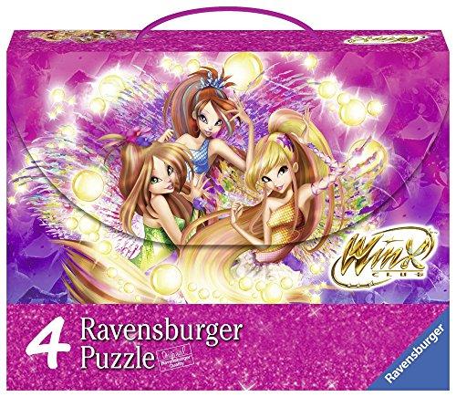 Ravensburger 07275 - Winx Valigetta con 4 Puzzle