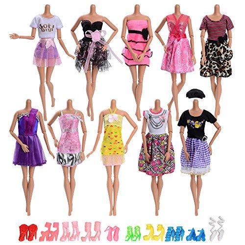 ASIV 10 pz Abiti da Matrimonio alla Moda Fatti a Mano Abito per Party, con 10 Paia di Scarpe...
