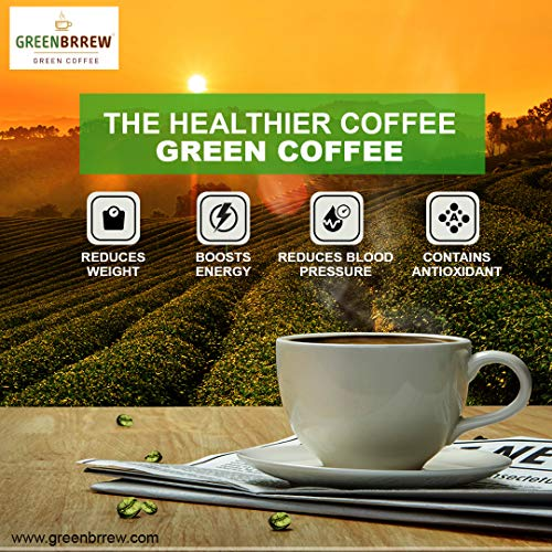 Greenbrrew Natural Instant Green Coffee for Weight Management (Pack of 3, 20 Sachets) - 60g Each 8