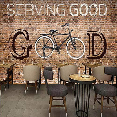 Zyyaky Carta Da Parati 3d Murale Mattoni Bicicletta Foto Pittura Ristorante Cafe Ktv Internet Cafe Decorazione Della Parete Di Fondo 110 288 Cm