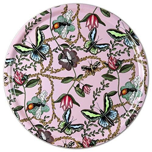 Nadja WEDIN diseño Bugs y Mariposas Rosa-Bandeja 38cm