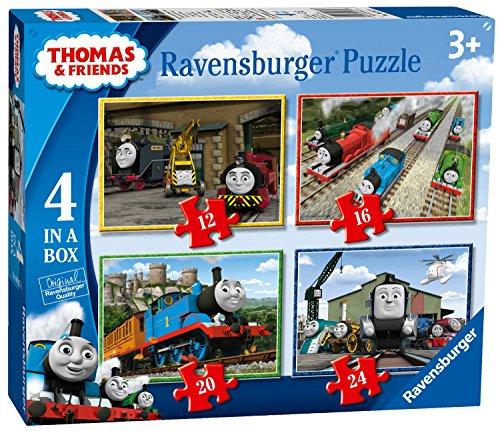 Ravensburger Thomas & Friends 4puzzle in una scatola (12, 16, 20, 24 pezzi), versione inglese