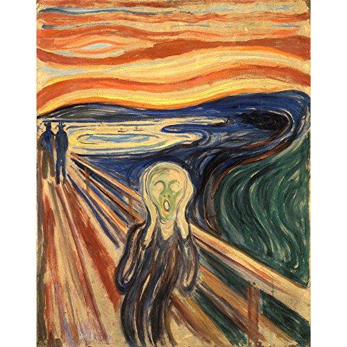 Niik Quadro + Telaio (BB) Edvard Munch 60 x 47 x 1,7 cm L' Urlo Falso d' autore Stampa su Tela