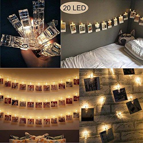 20 Foto LED clip luci della stringa per appendere quadri e Batterie Powered per San Valentino,...