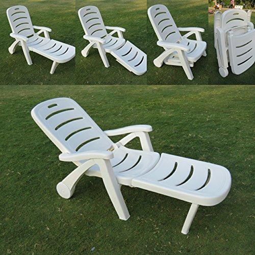 AMAZE Folding Patio Outdoor Portable Garden Farm House Swimming Pool sea Beach Sun Bed Chair Lounger Chair