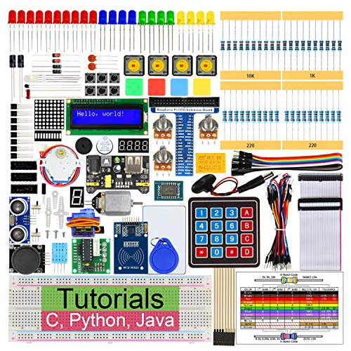 Freenove RFID Starter Kit for Raspberry Pi 3 B+, 423 Pages Detailed Tutorials, Python C Java, 204 Items, 53 Projects, RPi 3B+ 3B 3A+ 2B 1B+ 1A+ Zero W