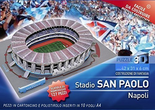 PUZZLE 3D STADIO SAN PAOLO DI NAPOLI 127 PEZZI