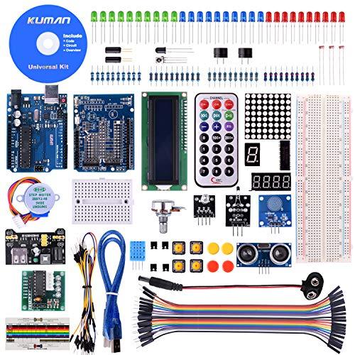 kuman Progetto Super Starter Kit per Arduino UNO-R3 Mega2560 Mega328 Nano Italiano Tutorial per Principianti K4