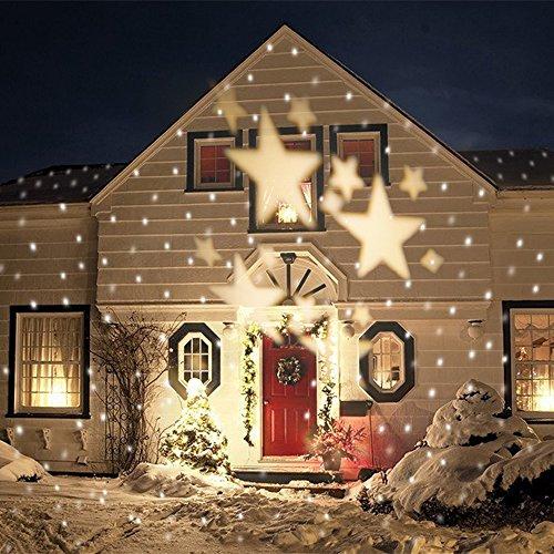 Smithroas, proiettore a LED IP67, modello con stelle, proiettore per Natale, per interni ed esterni,...
